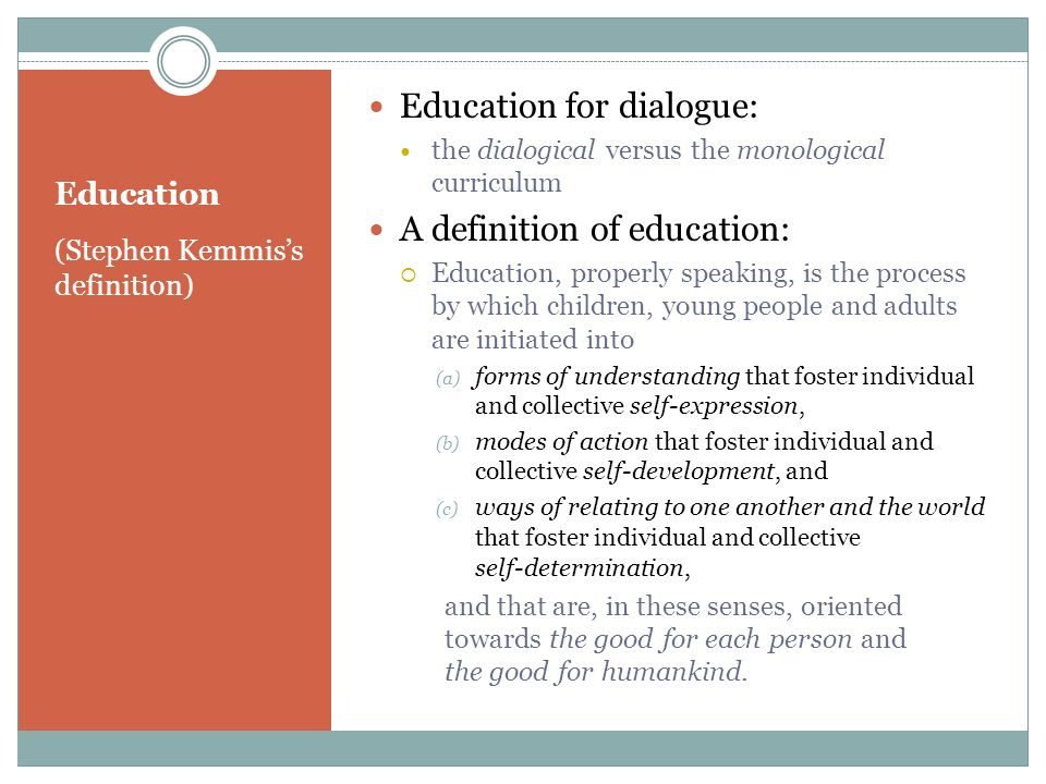 Education for dialogue: