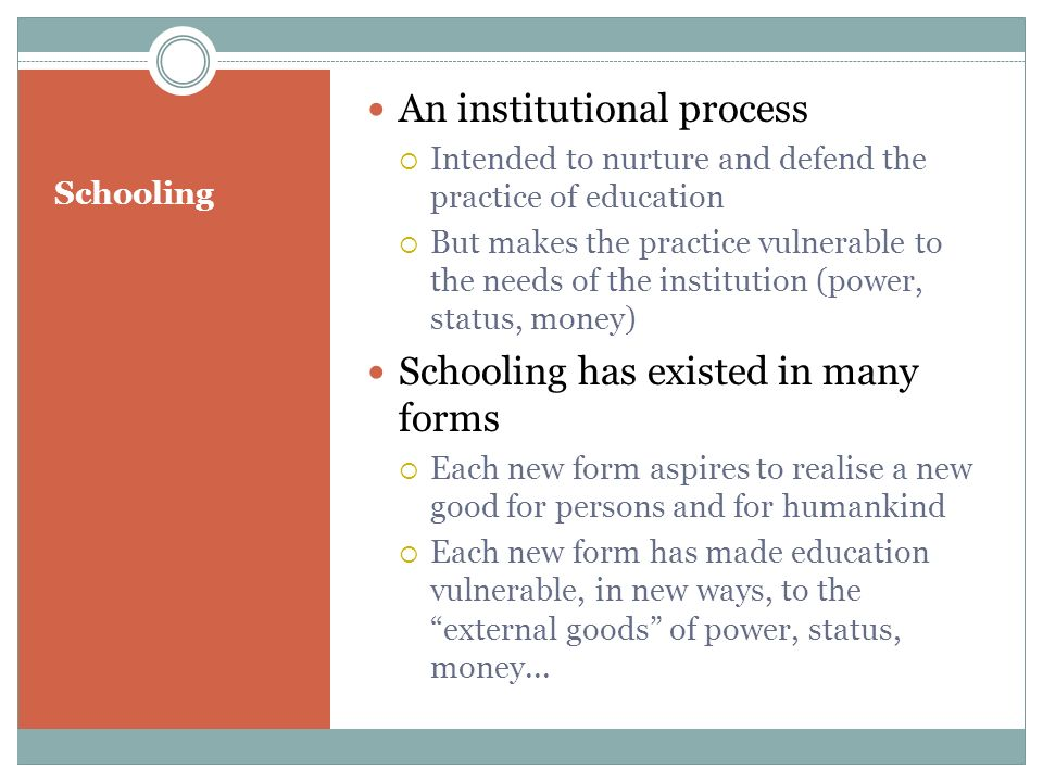 An institutional process