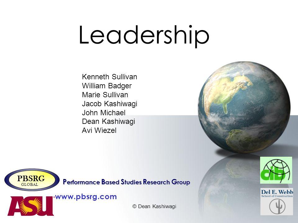 Leadership PBSRG www.pbsrg.com Kenneth Sullivan William Badger