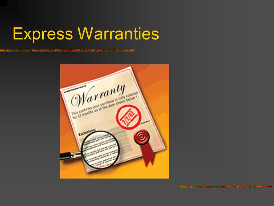 Express Warranties