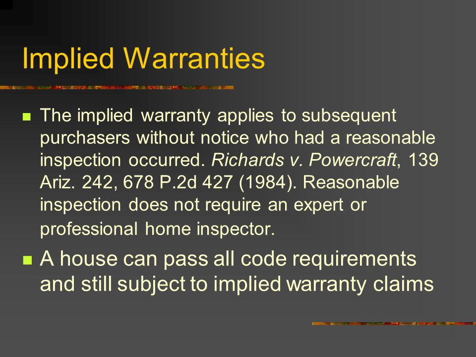 Implied Warranties