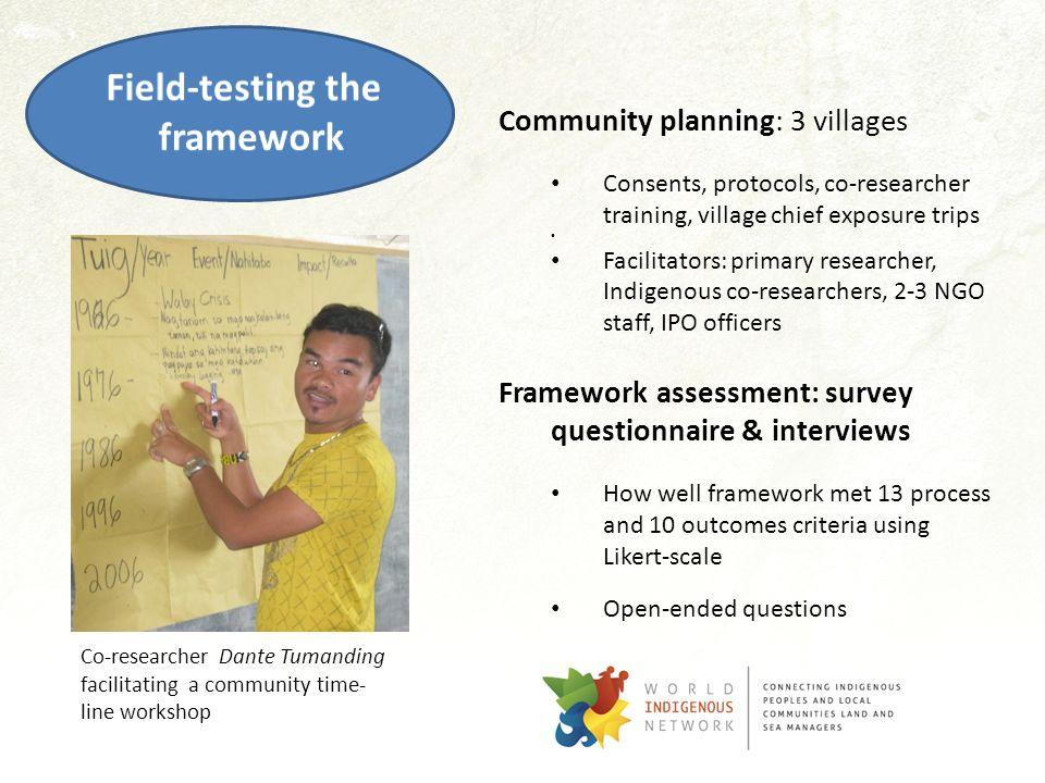 Field-testing the framework