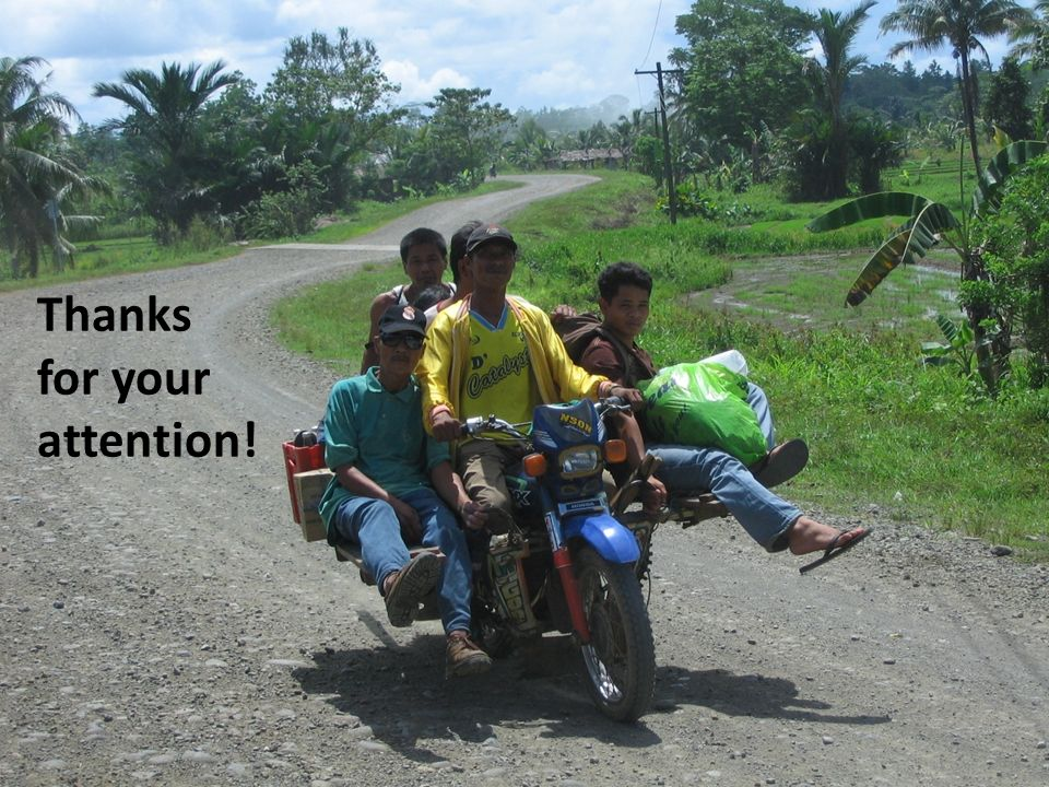 Thanks for your attention! Review of Philippine indigenous plans