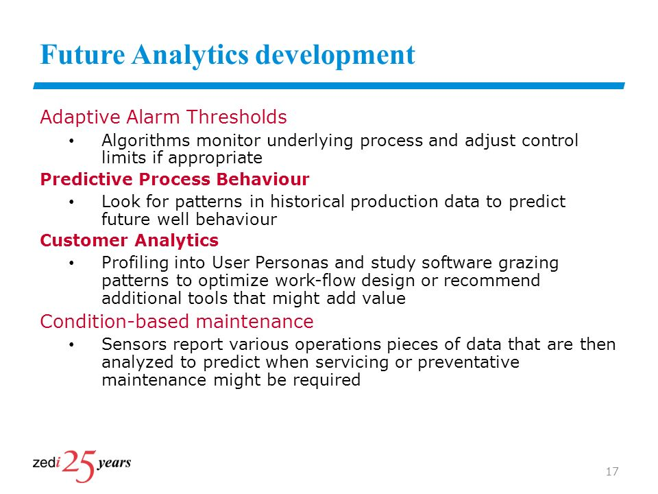 Future Analytics development