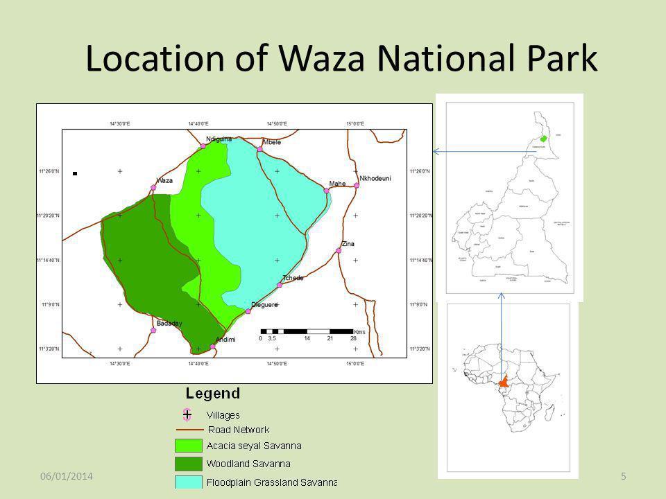 Location of Waza National Park