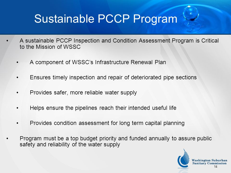 Sustainable PCCP Program