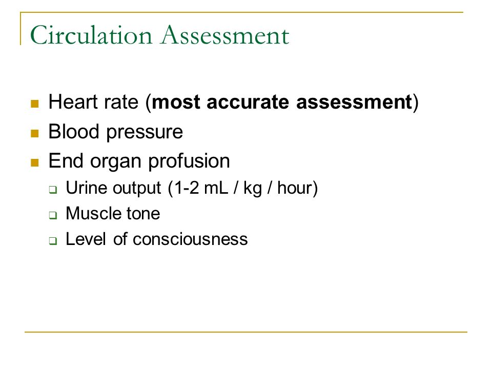 Circulation Assessment