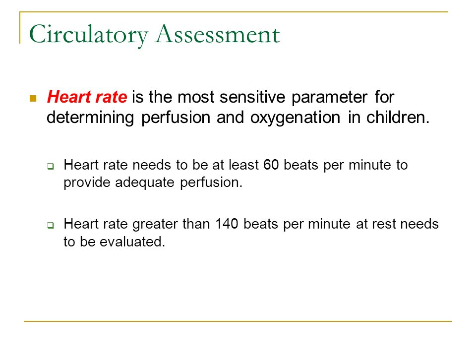 Circulatory Assessment