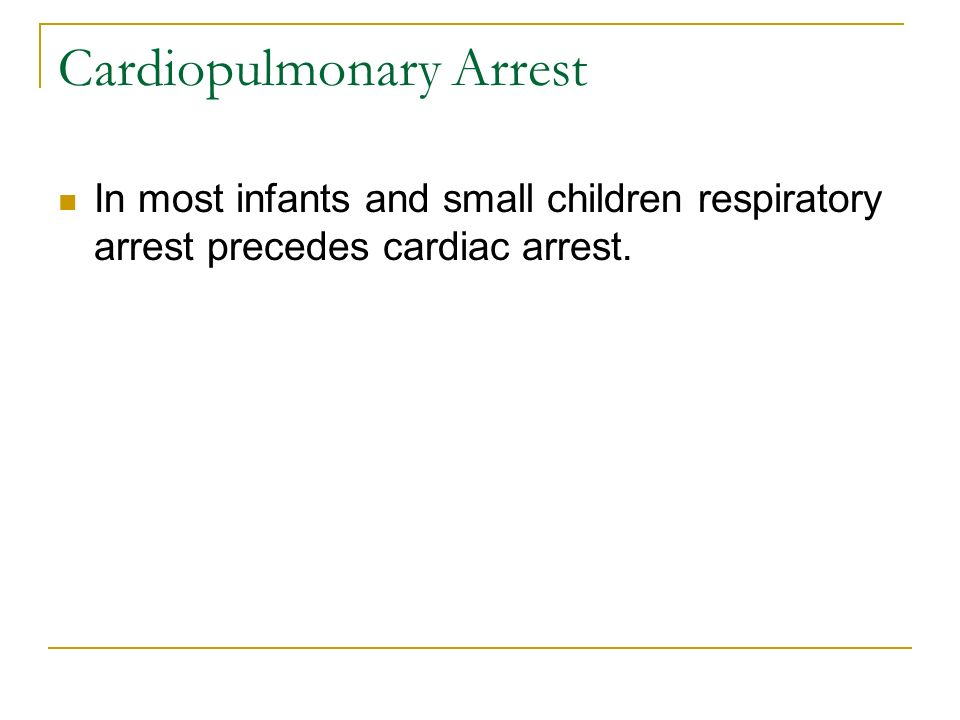 Cardiopulmonary Arrest