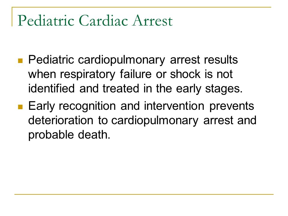 Pediatric Cardiac Arrest