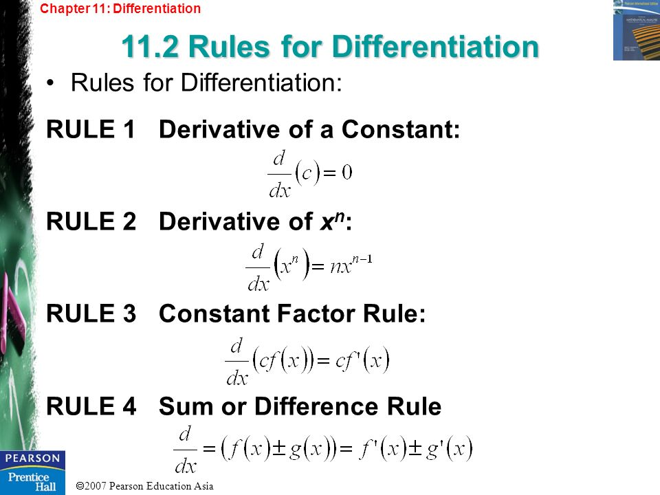 11.2 Rules for Differentiation