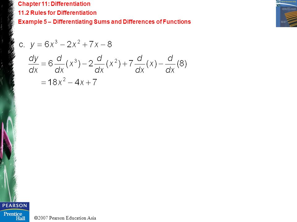 Chapter 11: Differentiation