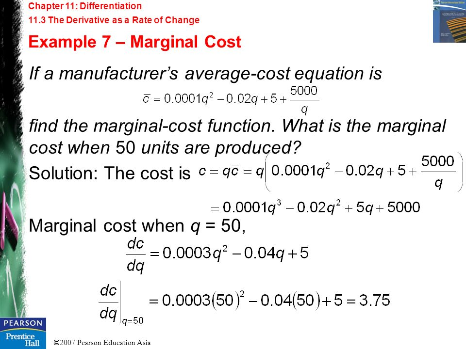 If a manufacturer's average-cost equation is