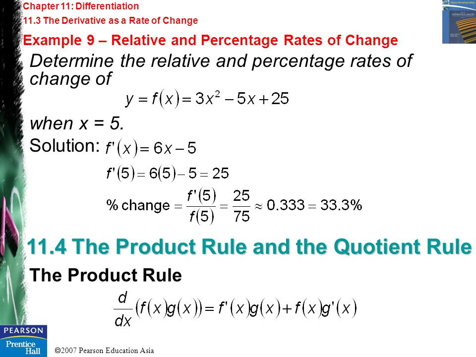 11.4 The Product Rule and the Quotient Rule