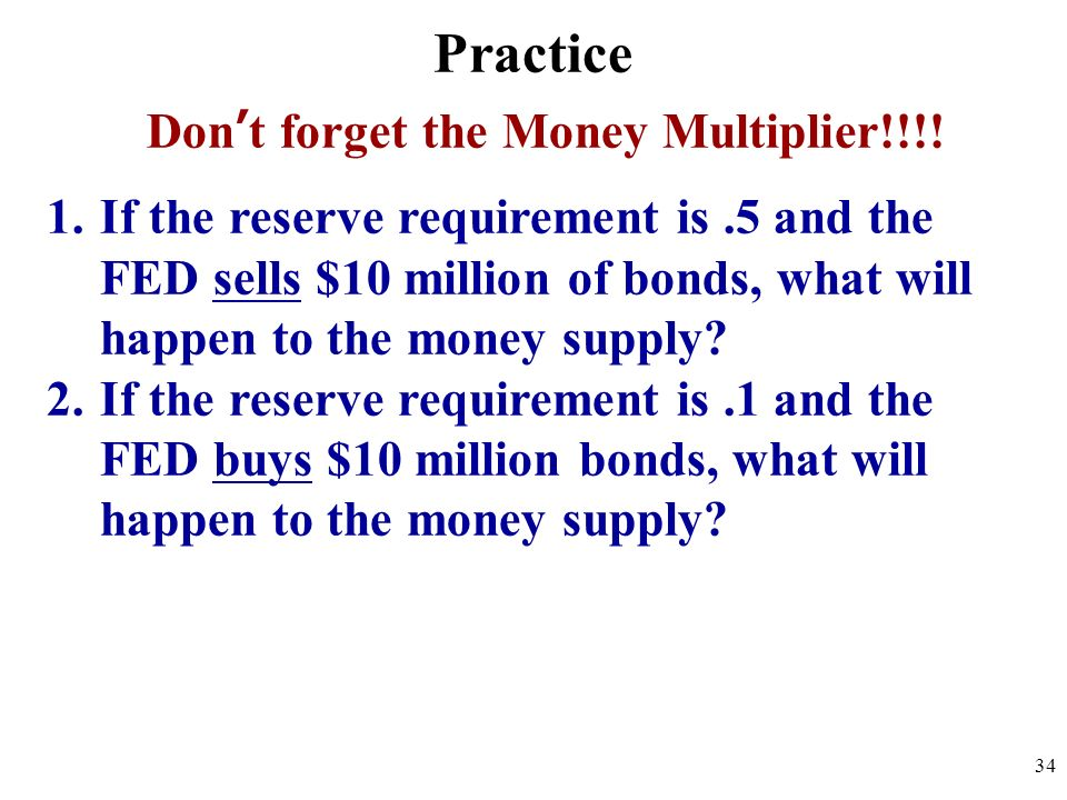Don't forget the Money Multiplier!!!!