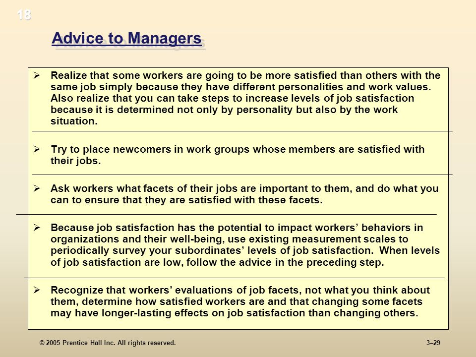 18 Advice to Managers.