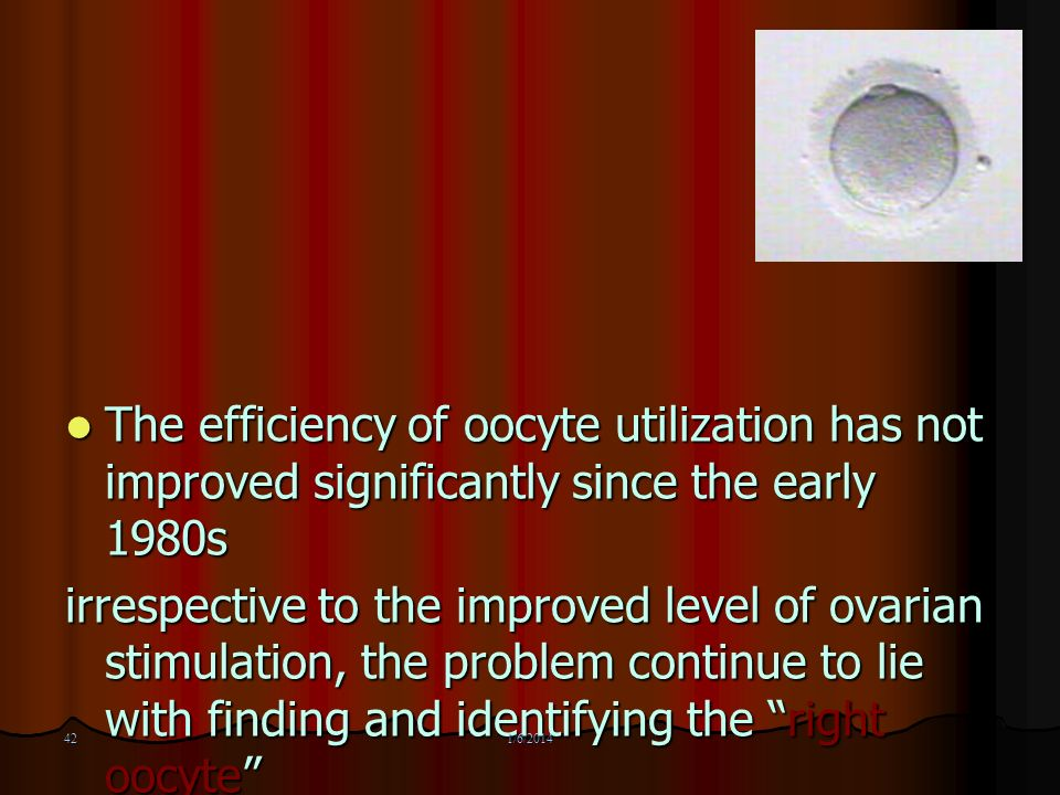 The efficiency of oocyte utilization has not improved significantly since the early 1980s