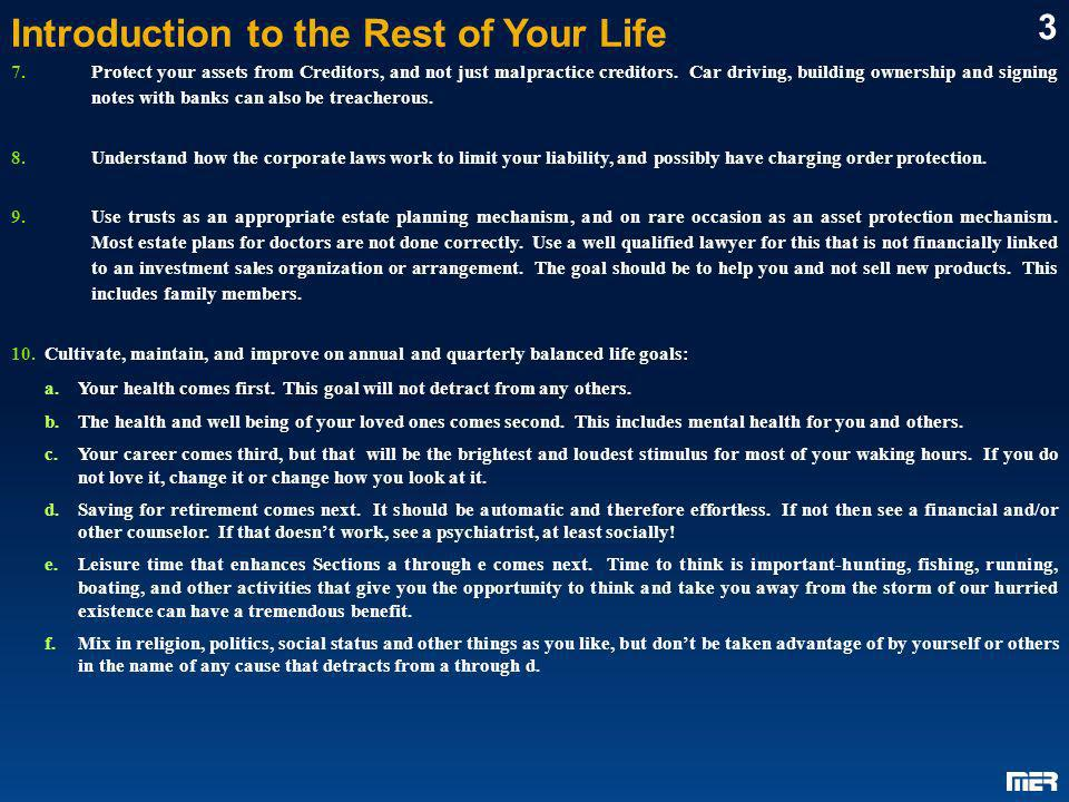 Introduction to the Rest of Your Life