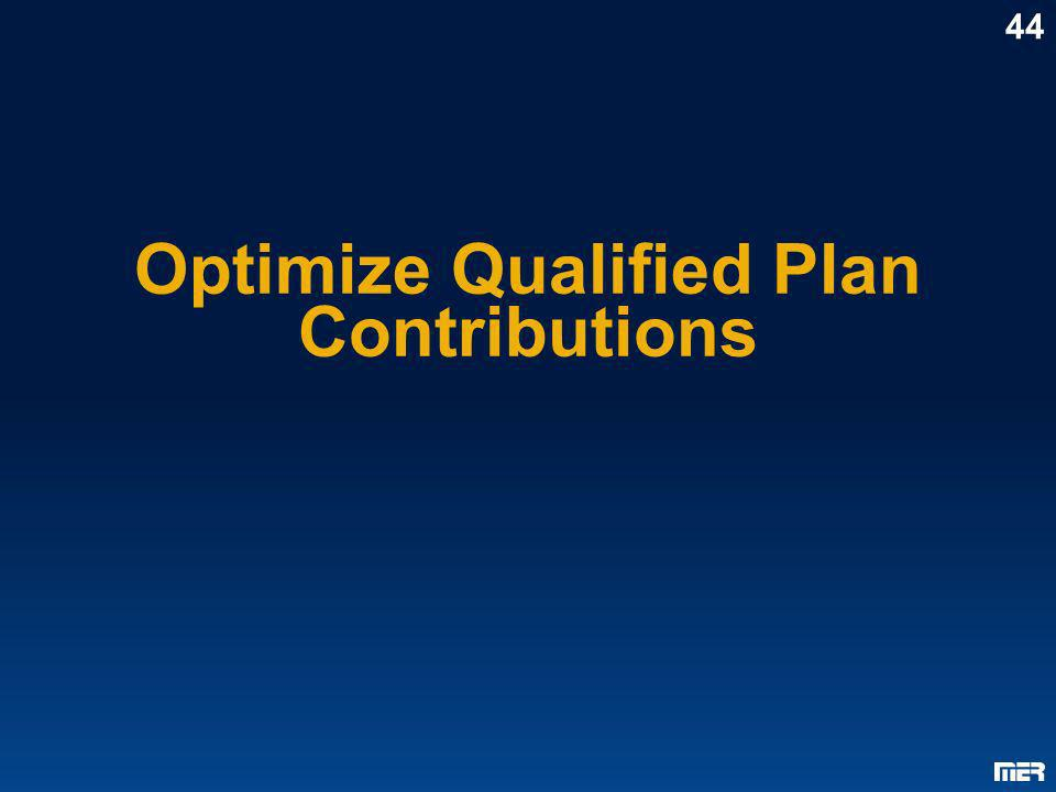 Optimize Qualified Plan Contributions