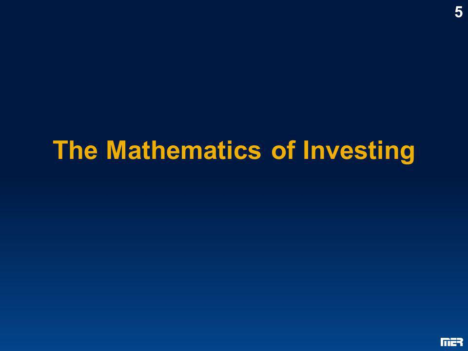 The Mathematics of Investing
