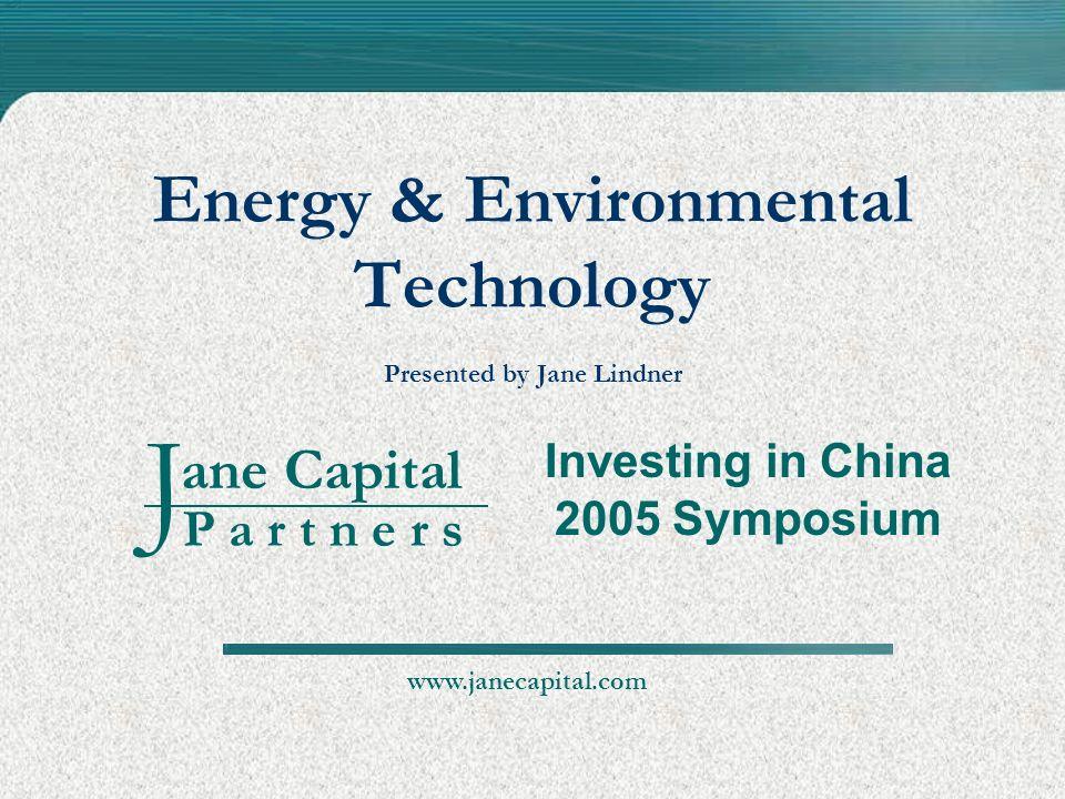 Energy & Environmental Technology Presented by Jane Lindner