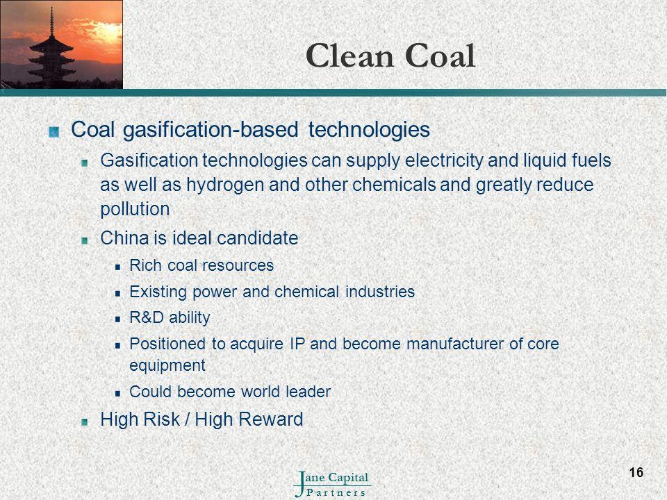 Clean Coal Coal gasification-based technologies