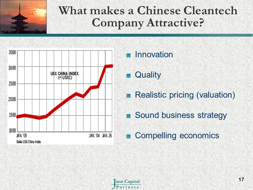 What makes a Chinese Cleantech Company Attractive