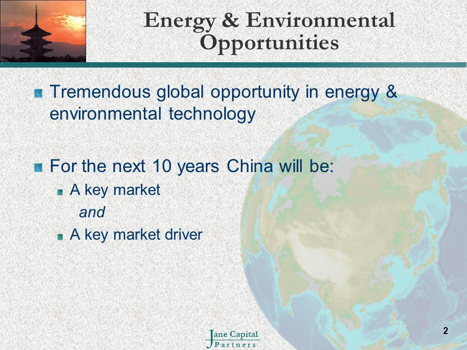 Energy & Environmental Opportunities