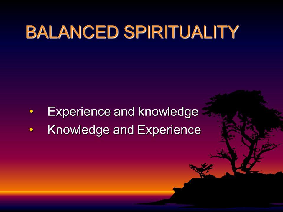 BALANCED SPIRITUALITY