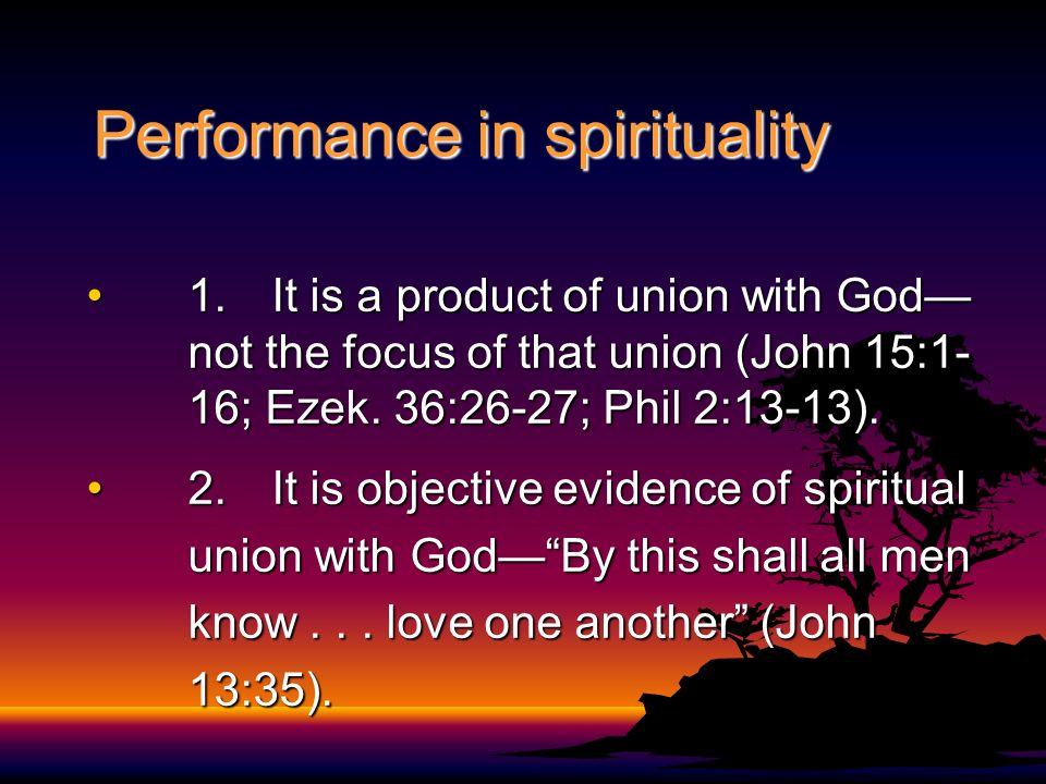 Performance in spirituality