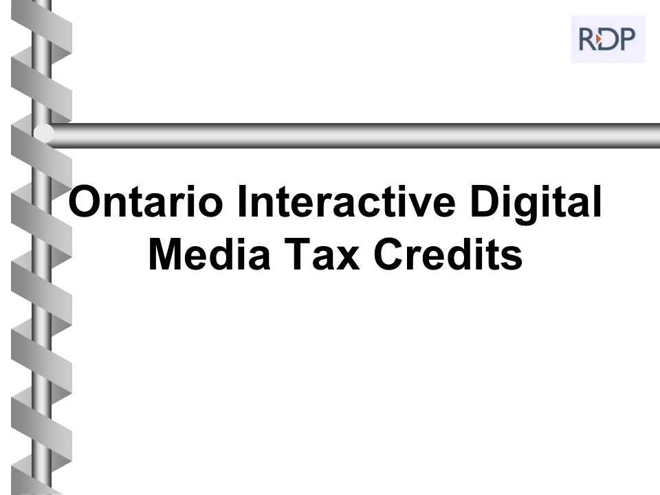 Ontario Interactive Digital Media Tax Credits