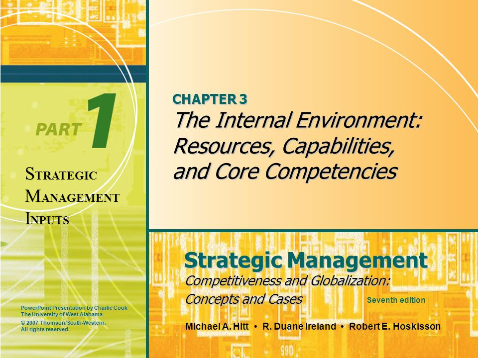 CHAPTER 3 The Internal Environment: Resources, Capabilities, and Core Competencies