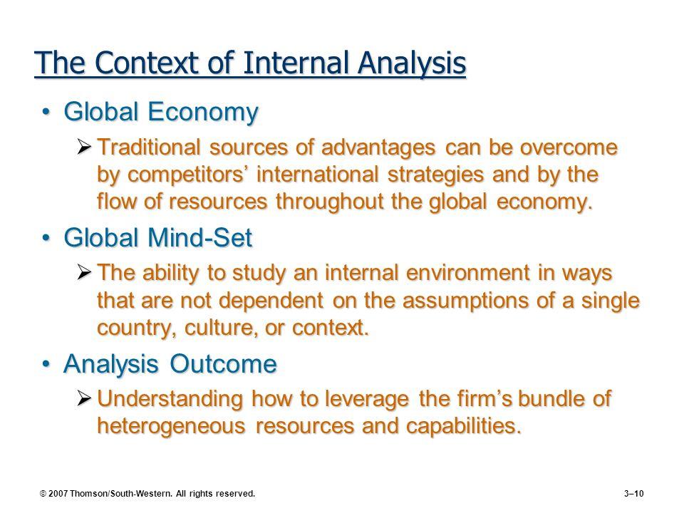 The Context of Internal Analysis