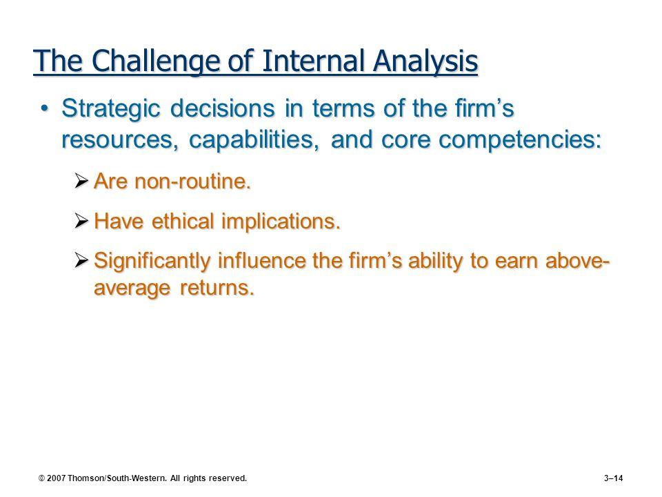 The Challenge of Internal Analysis