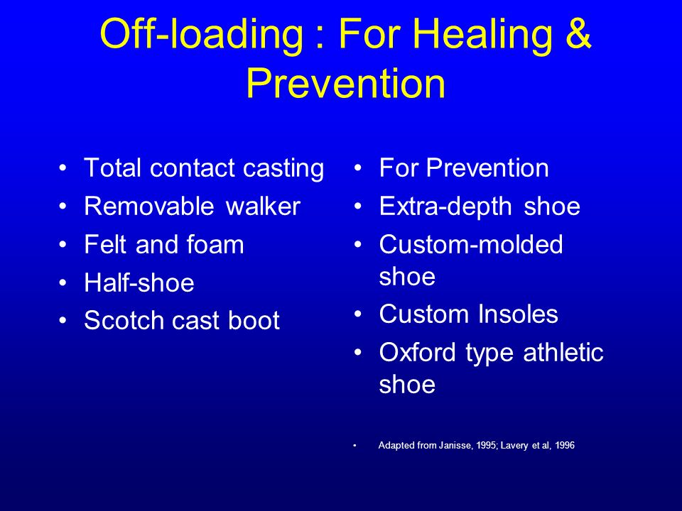Off-loading : For Healing & Prevention