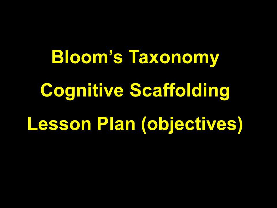 Cognitive Scaffolding Lesson Plan (objectives)