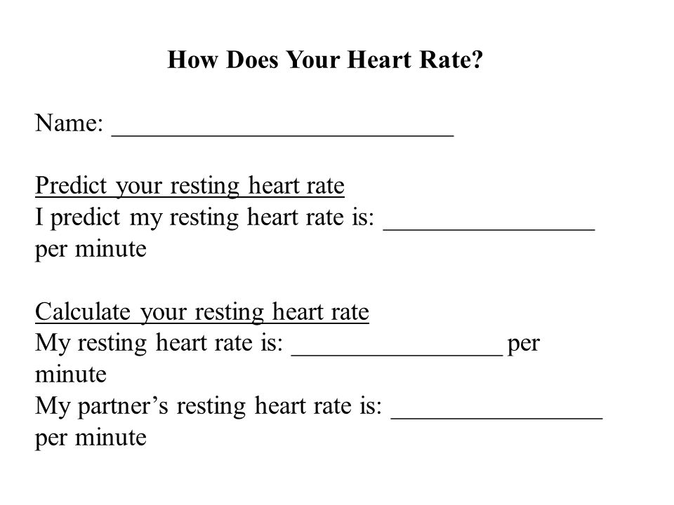 How Does Your Heart Rate