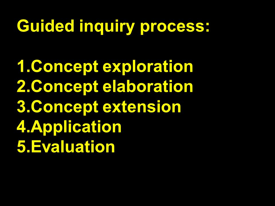 Guided inquiry process: