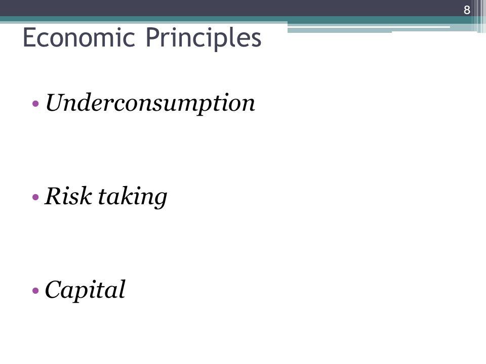 Economic Principles Underconsumption Risk taking Capital