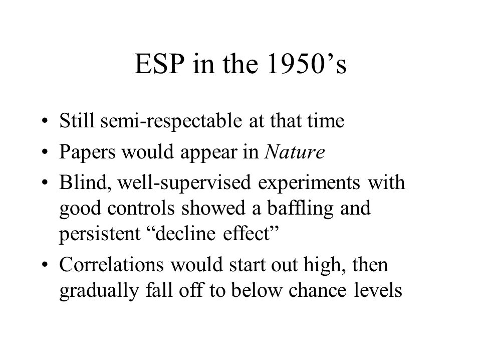 ESP in the 1950's Still semi-respectable at that time