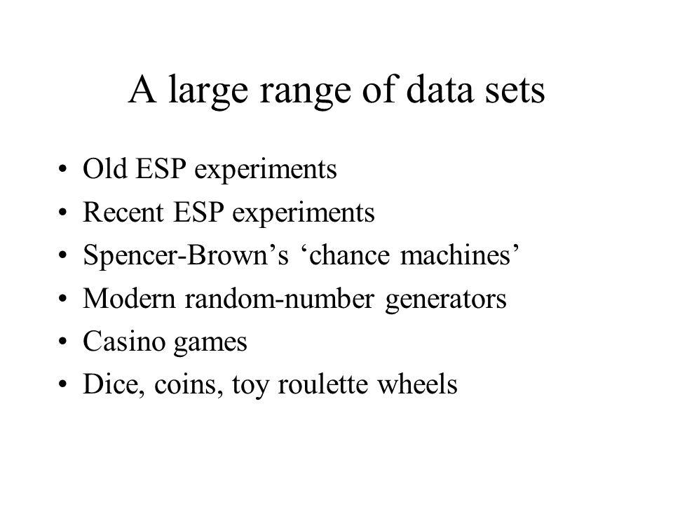 A large range of data sets