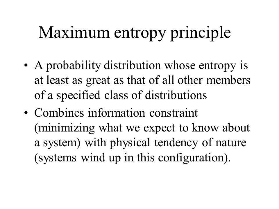 Maximum entropy principle