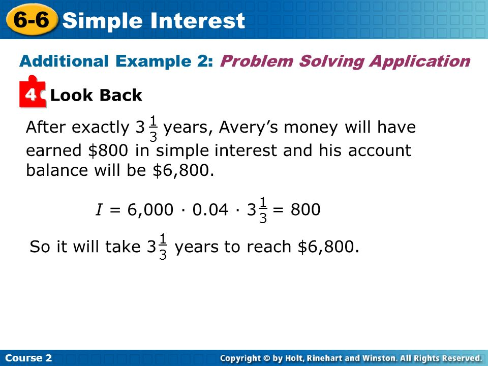 Additional Example 2: Problem Solving Application