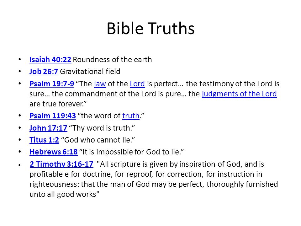 Bible Truths Isaiah 40:22 Roundness of the earth