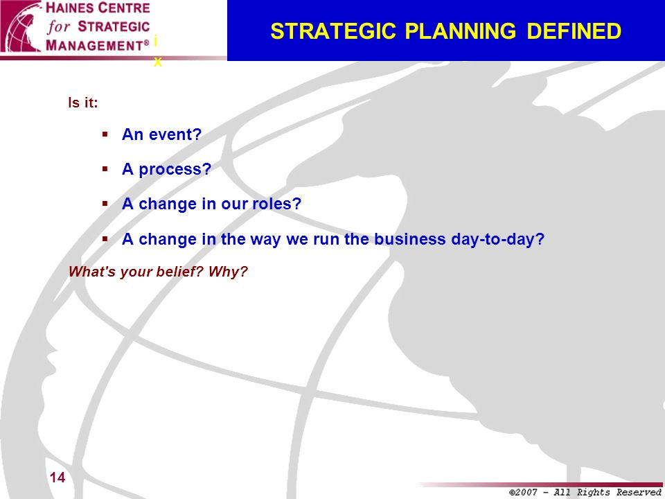 STRATEGIC PLANNING DEFINED