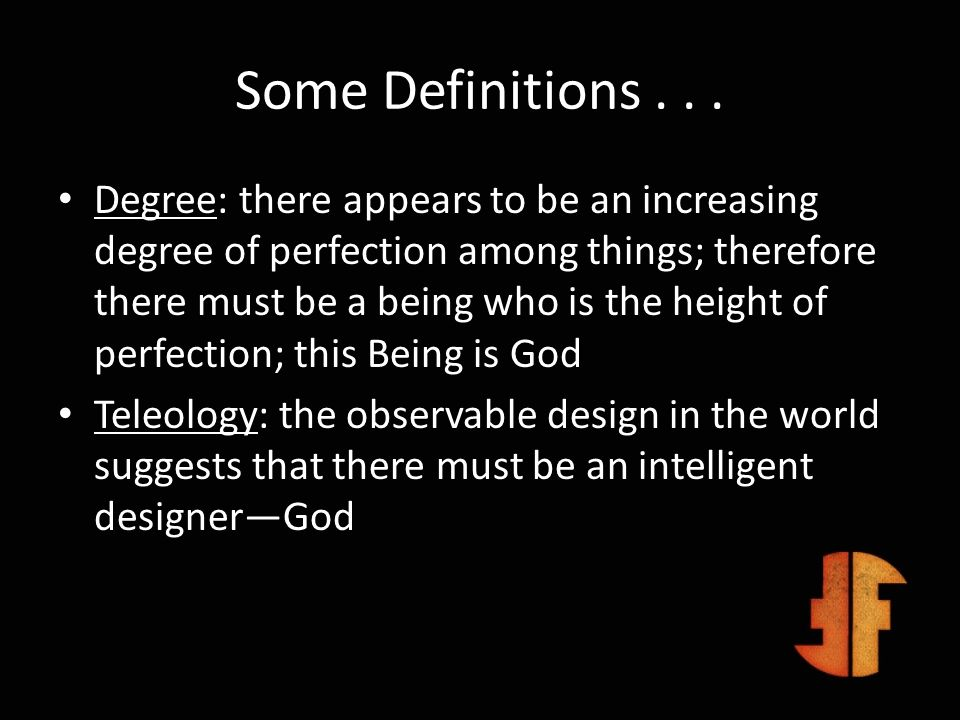 Some Definitions . . .