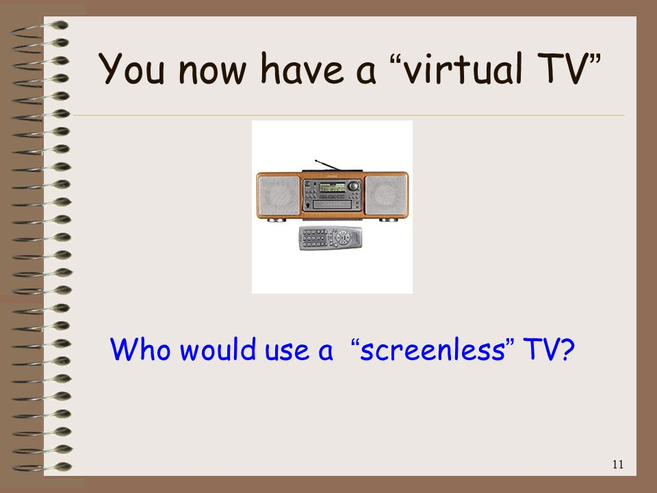 You now have a virtual TV