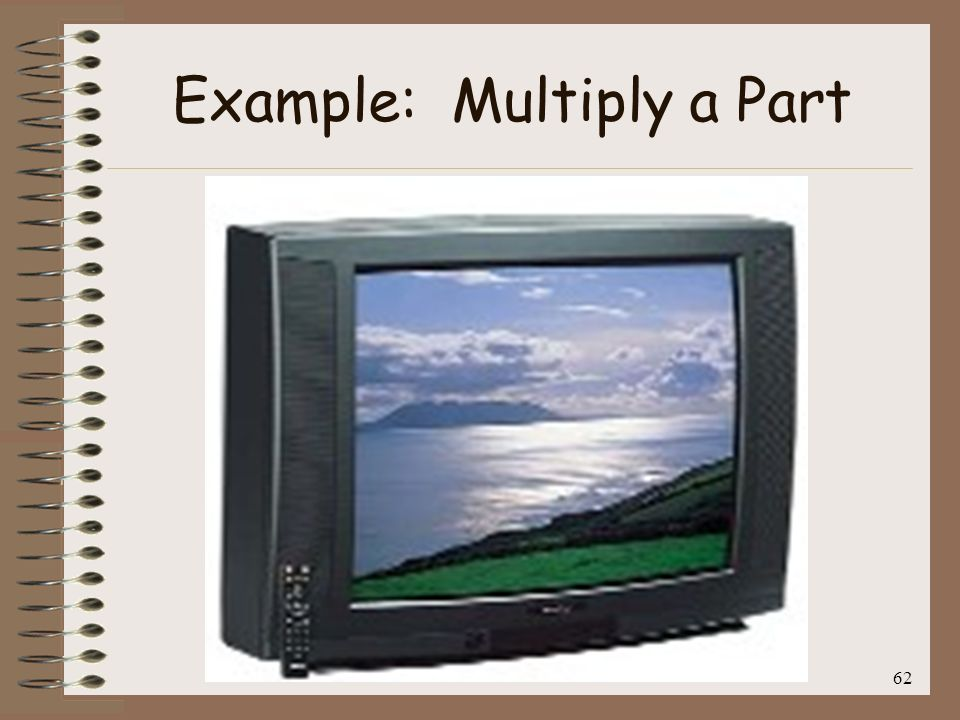 Example: Multiply a Part