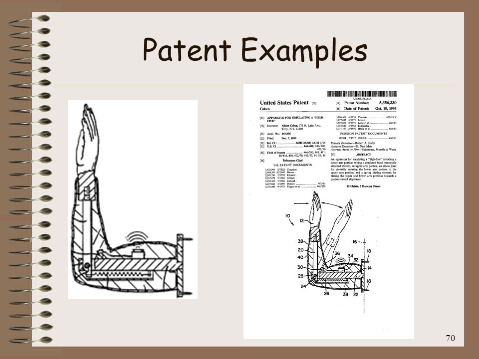 Patent Examples 70