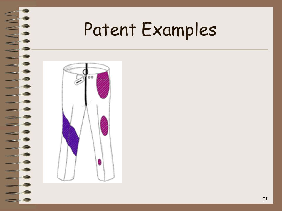Patent Examples 71
